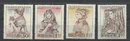 CHECOSLOVAQUIA YVERT  881/84   MH  * - Checoslovaquia