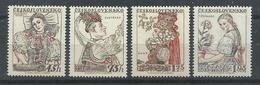 CHECOSLOVAQUIA YVERT  935/38    MH  * - Checoslovaquia