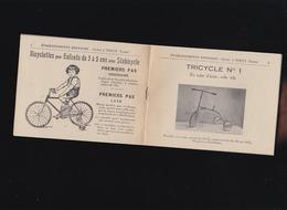 Jouet - Tricycle - Bicyclette Enfants - Bernasse Toucy Yonne - Catalogue, Facture - Publicité