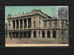 Chile 1918 Tarjeta Postal Circulada De Santiago De Chile A Argentina - Chile