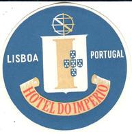 ETIQUETA DE HOTEL  -HOTEL DO IMPERIO  -LISBOA  -PORTUGAL - Etiquetas De Hotel