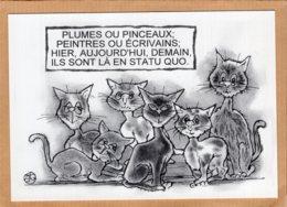 B55109 Chat :  Leschatz'amoi , Statu Quo , Imagier Théo Thiercy - Cartes Postales