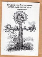 B55117 G. Brassens, Citation De L'auteur,  Imagier Théo Thiercy - Cartes Postales