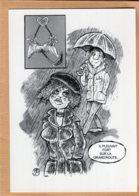B55122 G. Brassens, Chanson Le Parapluie ,  Imagier Théo Thiercy - Cartes Postales