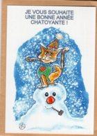 B55125 Chat - Bonne Année  ,  Imagier Théo Thiercy - Cartes Postales