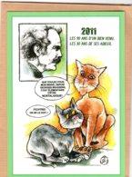B55128 Chat - G. Brassens, 2011 Anniversaire ,  Imagier Théo Thiercy - Cartes Postales