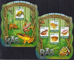Mozambique  2015 - Frogs - Animals - Fsauna  - Stamps Perf. MNH**  XF - Frogs