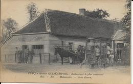 Cpa CUCQ-62-Pas-de-Calais-Maison QUINCAMPOIX-Restaurant Le Plus Renommétrés Animé Personnages écrite - Autres Communes
