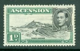 Ascension: 1938/53   KGVI    SG39d    1d  Black & Green  [Perf: 13]    MH - Ascension (Ile De L')