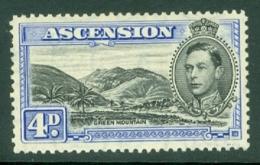 Ascension: 1938/53   KGVI    SG42d    4d  Black & Ultramarine  [Perf: 13]    MH - Ascension