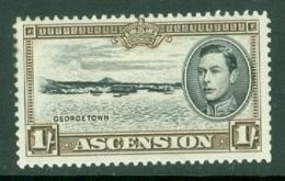 Ascension: 1938/53   KGVI    SG44a    1/-   [Perf: 13]    MH - Ascension