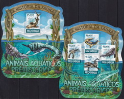 Mozambique 2015 - Dinosaurs - Prehistorics - Fauna - Stamps Perf. MNH** XF - Stamps
