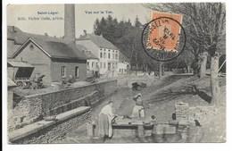 Saint Leger Vue Sur Le Ton A Gauche La Brasserie Veriter 18 Fevrier 1913 - Saint-Léger