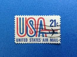 1971 STATI UNITI USA AIR MAIL 21 C FRANCOBOLLO USATO STAMP USED - United States