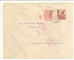 Historia Postal España  Andalucia  Carta  Córdoba-Sevilla  1937  NL1271 - 1931-50 Cartas