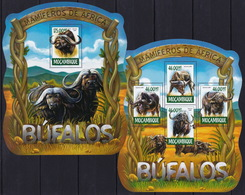 Mozambique  2015 - Bufalos - Nature - Fauna  - Stamps Perf. MNH**  XF - Stamps