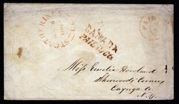 A5796) Canada Kanada Cover St. Catherines 08/08/1852 To Queenston - 1851-1902 Victoria