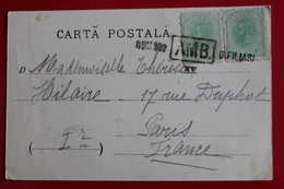 1902         CARTE  POSTALE  DE  CRAIOVA    POUR  LA  FRANCE      2  PHOTOS - 1881-1918: Carol I.