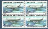 1979  Poly  N° PA 149 Nf** . Bloc De 4   . Les Avions.   D.C.4 - Poste Aérienne