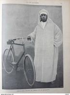 Abd-El-Aziz, Sultan De Maroc Et Sa Bicyclette - Page Original 1901 - Documents Historiques