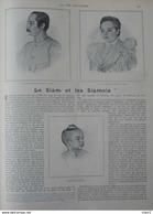 Le Siam Et Les Siamois - S. M. Chulalong-Korn, Roi De Siam - S. M. Savalha, Reine De Siam - Page Original 1901 - Documents Historiques