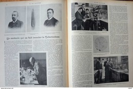 Un Médecin Qui Se Fait Inoculer La Tuberculose - Le Prof. R. Koch De Berlin - Page Original Double 1901 - Documents Historiques