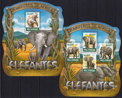 Mozambique  2015 - Elephants - Animals - Stamps Perf. MNH**  XF - Elephants