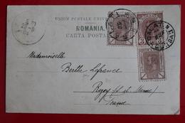 1904       CARTE  POSTALE  DE  LA  PRINCESSE  MARIA    POUR  LA  FRANCE   2  CACHETS  DIFFERENTS  DE  GALATI   2  PHOTOS - 1881-1918: Charles I