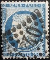 FRANCE Y&T N°60A Cérès 25c Bleu. Oblitéré Losange GC. N°2740 - 1871-1875 Ceres