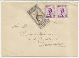 Historia Postal España  Castilla  Carta  Benavente-Valladolid  1948  NL1282 - 1931-50 Cartas