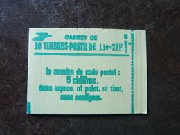 1979 Sabine 1,10 F Vert CODE POSTAL Y&T= 2058-C1a  Gomme Mate ** MNH - Carnets