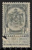 Verviers Ouest 1906  Nr. 798B Strookje Linksonder - Precancels