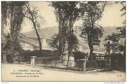 ALLEMAGNE KOBLENZ, COBLENZ  Rheinlager  COBLENCE  Promenade Du Rhin : Promenade On The Rhine  Cpa Voyagée En 1925 - Koblenz