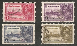 NEWFOUNDLAND 1935 SILVER JUBILEE SET SG 250/253 FINE USED Cat £38 - Newfoundland