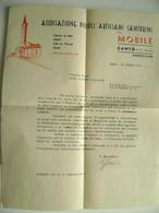 1951  A  MATERA  DA  MOBILI DI CANTU'   COMO  LETTERA  INTESTATA PUBBLICITARIA   PICCOLI ARTIGIANI  CANTURINI - Documenti Storici
