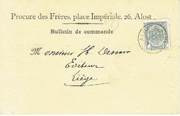 CP/PK Publicitaire AALST 1910 - Header PROCURE DES FRERES Place Impériale 26 ALOST - Aalst