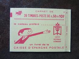 1971 Marianne De Bequet 0,50F Rouge CAISSE D'EPARGNE POSTALE Y&T= 1664-C2 Conf.8  ** MNH - Carnets