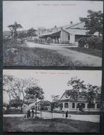 Indochine Lot 2 Cpa Langson Bd Gallieni Et Rue Servieres - Viêt-Nam
