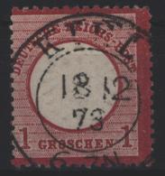 Deutsches Reich 19 Brustschild K 2 Kiel 18.12.1873 - Allemagne