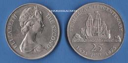 1973  SAINT HELENA  25p.  300TH. ANNIVERSARY OF COLONY EAST INDIA CO. SAILING SHIP VERY FINE-SUPERB - Santa Helena