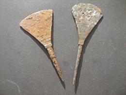Set Of 2 Ancient Medieval Arrowheads 9-12 Century.Golden Horde - Archéologie