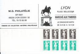 Carnet Privé  De M. G. Philatélie LYON - Carnets
