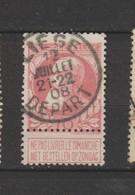 COB 74 Oblitéré LIEGE (Départ) - 1905 Grosse Barbe
