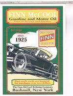 PUBICITE  FINN MCCOOL GASOLINE 1925 - Pubblicitari