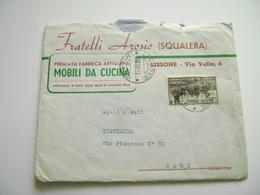 1951 AROSIO FABBRICA MOBILI SQUALERA LISSONE   MONZA BUSTA +  LETTERA  INTESTATA PUBBLICITARIA - Documenti Storici