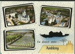En Direct Avec ...  AMBLENY Les Ruines Du Donjon Et L'Eglise Saint-Martin Le Cimetière Militaire Lapie 151 - France
