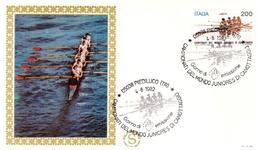 Fdc Filagrano Gold: MONDIALI CANOTTAGGIO 1982; No Viaggiata; AS_Piediluco - 6. 1946-.. Repubblica