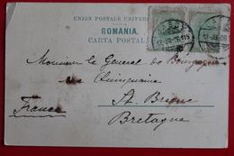 1906      CARTE  POSTALE  DE  PIATRA  NEAMT   POUR   LA  FRANCE     2  PHOTOS - 1881-1918: Charles I