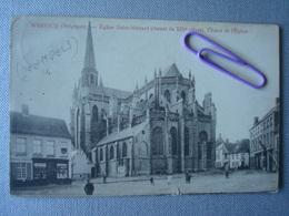 WERVIK : église SAINT-MEDARD (voir Cachet Militaire Allemand 55) En 1915 - Wervik