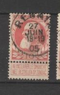 COB 74 Oblitéré RENAIX - 1905 Grosse Barbe